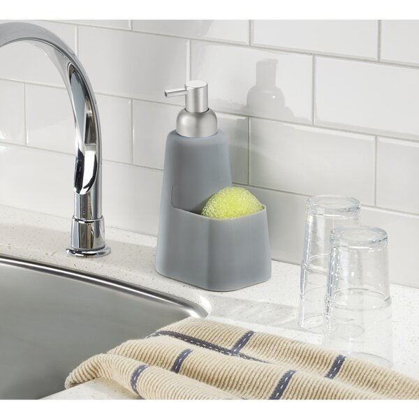 Lineo Soap Dispenser Pump and Sponge Caddy by InterDesign
