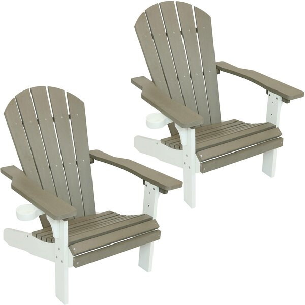 Kendra All Weather Plastic Adirondack Chair (Set of 2) by Breakwater Bay Breakwater Bay