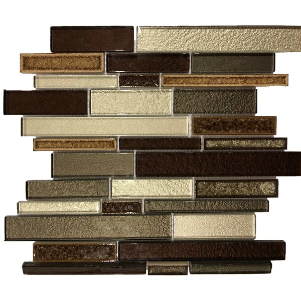Glacier Strips 12 x 12 Natural Stone and Glass Mosaic Tile
