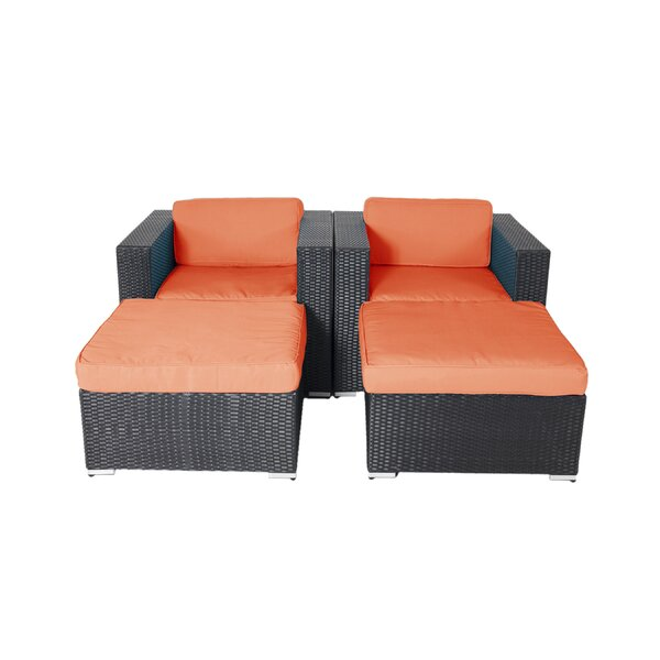Hibner 4 Piece Lounge Chair Set with Cushions by Ebern Designs