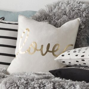 carnell romantic love cotton throw pillow cover