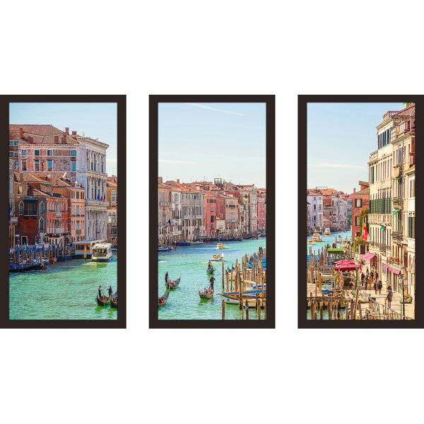 Venice, Italy 3 Piece Framed Photographic Print Set by Picture Perfect International