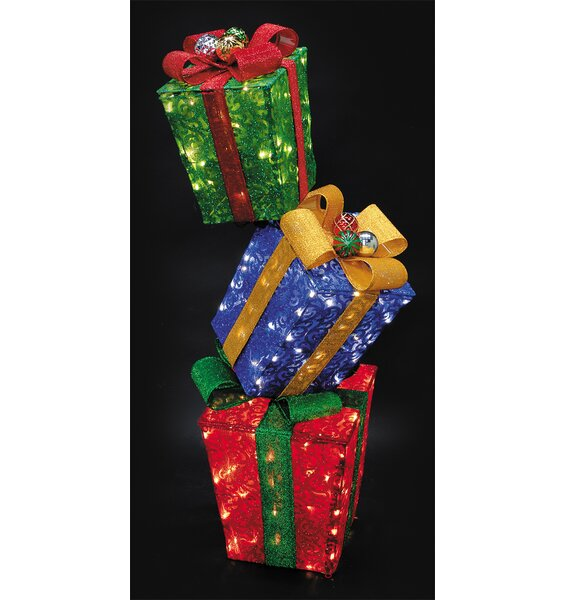 3 Piece 3D Mesh Gift Box Set by The Holiday Aisle