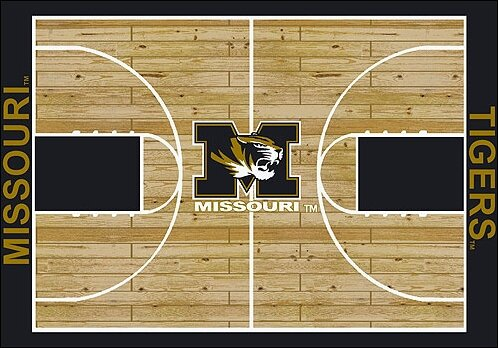 NCAA College Home Court Missouri Novelty Rug by My Team by Milliken
