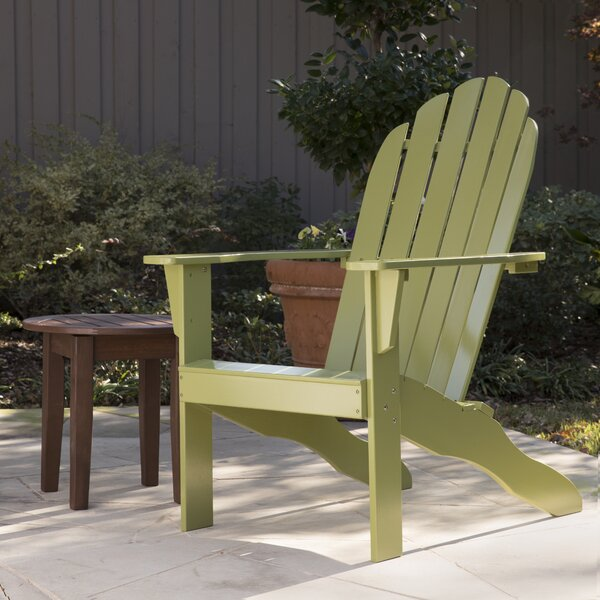 Lares Solid Wood Adirondack Chair by Gracie Oaks