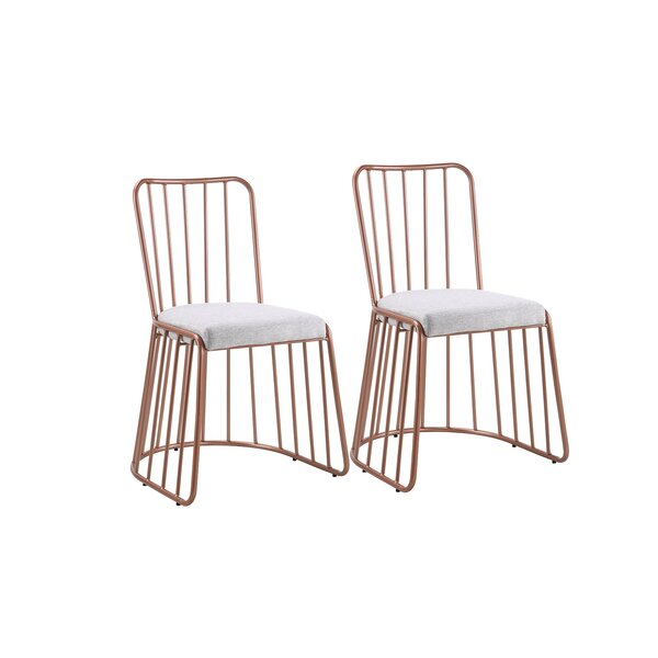 Dasilva Upholstered Dining Chair (Set of 2) by Wrought Studio