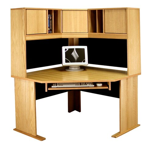 Office Modulars Computer Desk with Hutch