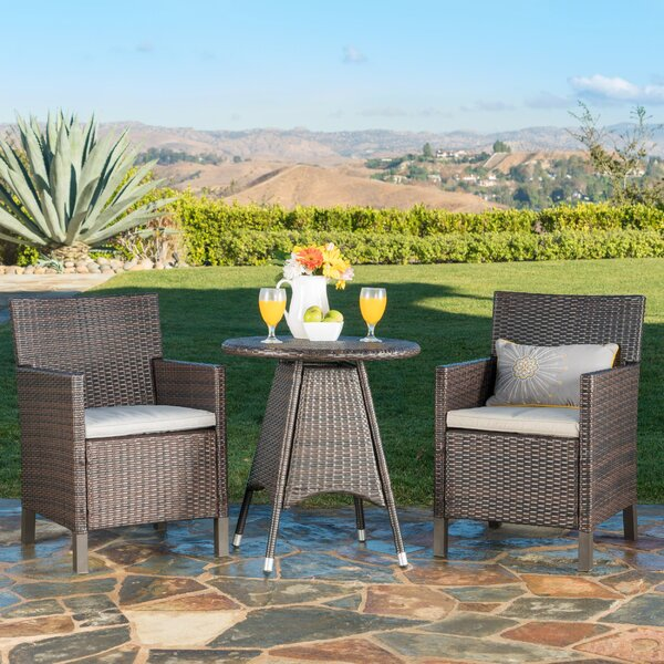 Araujo 3 Piece Dining Set with Cushions by Ivy Bronx