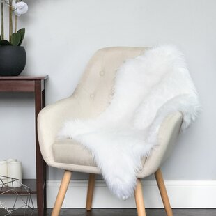 Compare prices Aanya Fluffy White Area Rug By House of Hampton
