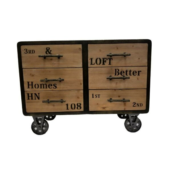6 Drawer Antiqued Industrial Accent Chest by The Urban Port