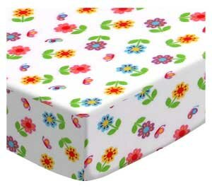 Reviews Colorful Roses Fitted Crib Sheet BySheetworld
