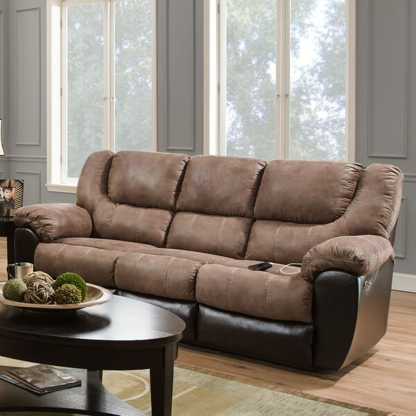 Cheapest Simmons Upholstery Derosier Reclining Sofa by Darby Home Co by Darby Home Co