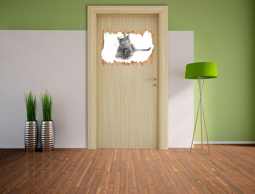 Gewaltig Wandtattoo Katzen Dekoration Von Katzen-engel Auf Einer Wolke Im Himmel Kohleeffekt