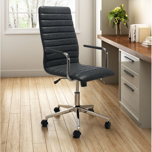 America Vintage High-Back Executive Chair by Latitude Run