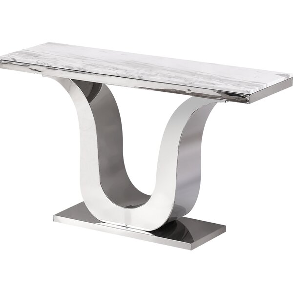 Manningtree Marble Console Table By Everly Quinn
