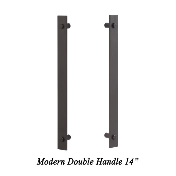 Modern Double Barn Door Handle by Sure-Loc Hardware