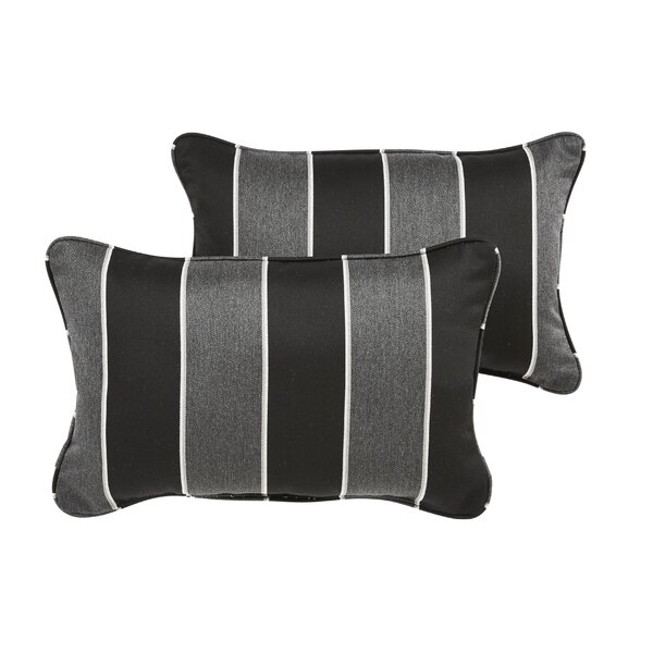 Hinkel Indoor/Outdoor Sunbrella Lumbar Pillow (Set of 2) by Brayden Studio