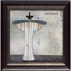 'Refresh Texture Coated Bathroom' by Marla Rae Framed Graphic Art by Artistic Reflections