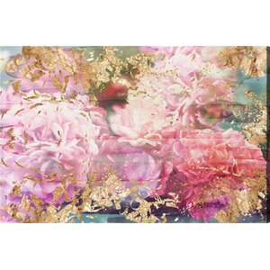 'Rose Rhapsody' Graphic Art Print on  Canvas by Oliver Gal