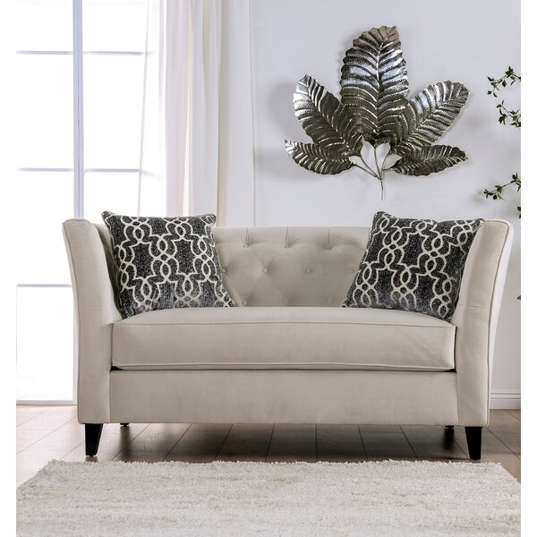 Awesome Yadiel Tufted Loveseat by Rosdorf Park by Rosdorf Park