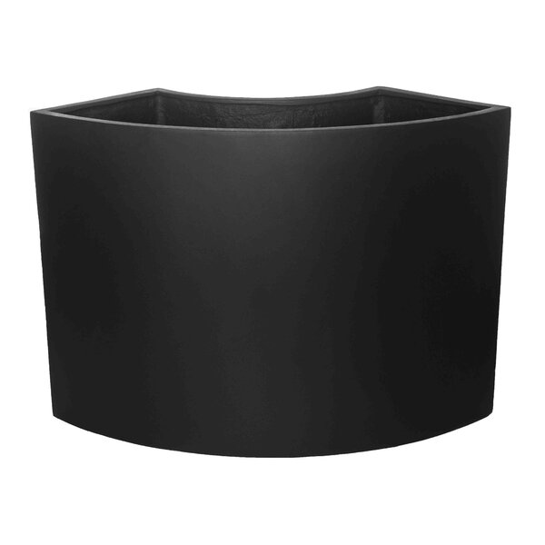 Riggio ML Qtr Arc Fiberglass Clay Composite Pot Planter by Brayden Studio