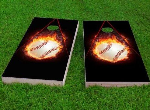 Baseball Cornhole Game (Set of 2) by Custom Cornhole Boards