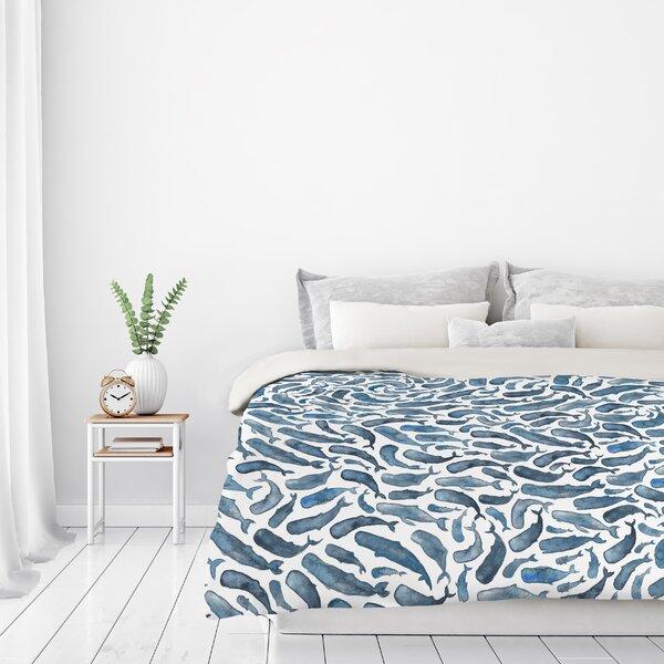 Sperm Whales Duvet Cover