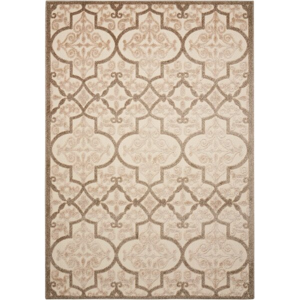 Seaside Cream/Beige Indoor/Outdoor Area Rug by Bay Isle Home