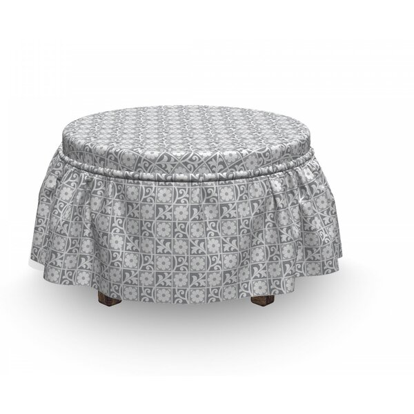 Read Reviews Box Cushion Ottoman Slipcover