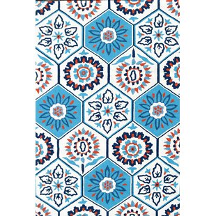 Comparison Handmade Tile White Indoor/Outdoor Area Rug By Park Avenue Rugs