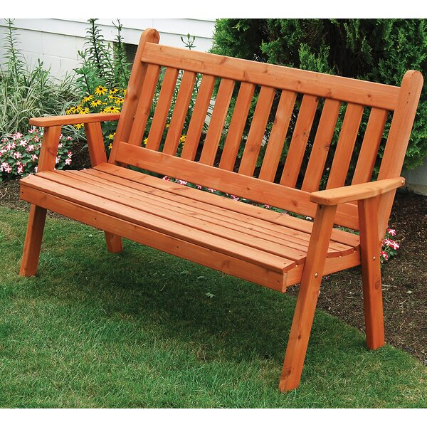 English Wood Garden Bench by A&L Furniture