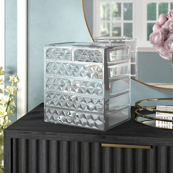 Whisnant Diamond Pattern Makeup Cosmetic Organizer by Willa Arlo Interiors