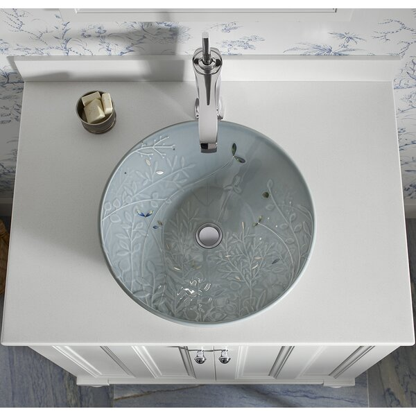 Hydrorail Ceramic Circular Vessel Bathroom Sink by Kohler