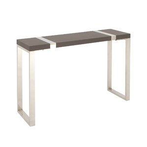 Wood Stainless Steel Console Table