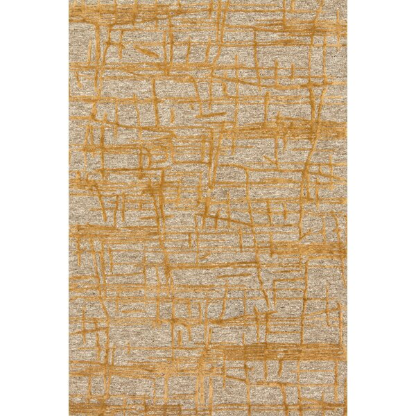 Juneau Hand-Hooked Gold/Beige Area Rug by Loloi Rugs