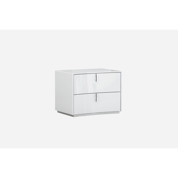 Lorentz 2 Drawer Nightstand by Orren Ellis