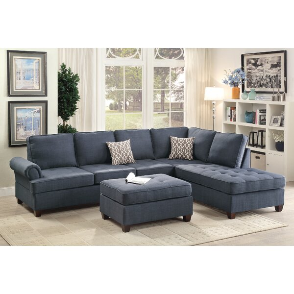 Oaklee Right Hand Facing Sectional with Ottoman by Alcott Hill Alcott Hill