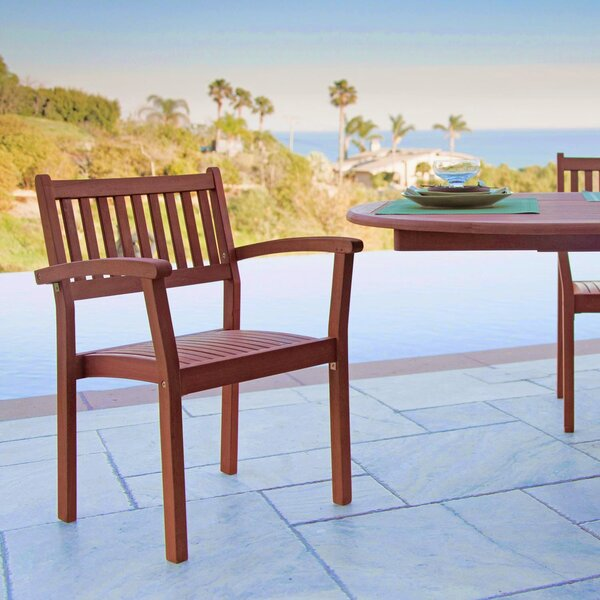 Stacking Patio Dining Chair (Set of 4) by Vifah