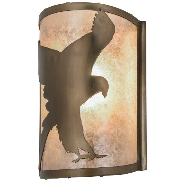 1-Light Flying Hawk Right Wall Sconce by Meyda Tiffany