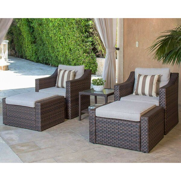 Finnley 5 Piece Sofa Seating Group with Cushions Longshore Tides W000088862