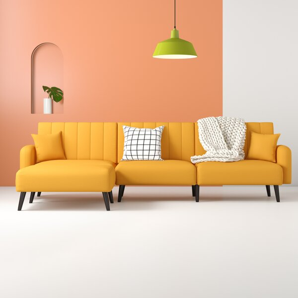 new product 51699 a655e Mustard Yellow Sectional Sofa | Wayfair