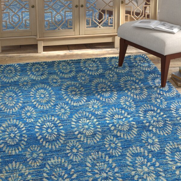 Amira Hand-Woven Royal Area Rug by Bungalow Rose