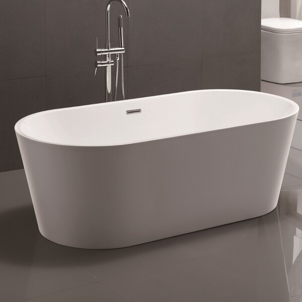 59 x 29.5 Freestanding Soaking Bathtub by Vanity Art