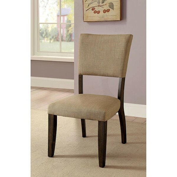 PeoPles Upholstered Dining Chair (Set of 2) by Canora Grey