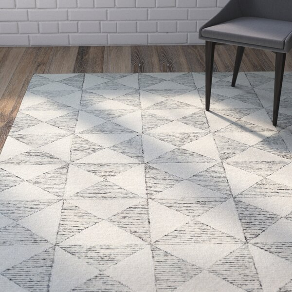 Cilegon Handmade Ivory Area Rug by Wrought Studio