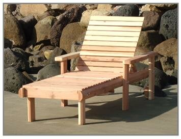 Henry Rustic Beach Single Chaise Lounge