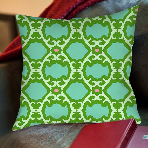 Francie Trellis Printed Throw Pillow by Manual Woodworkers & Weavers