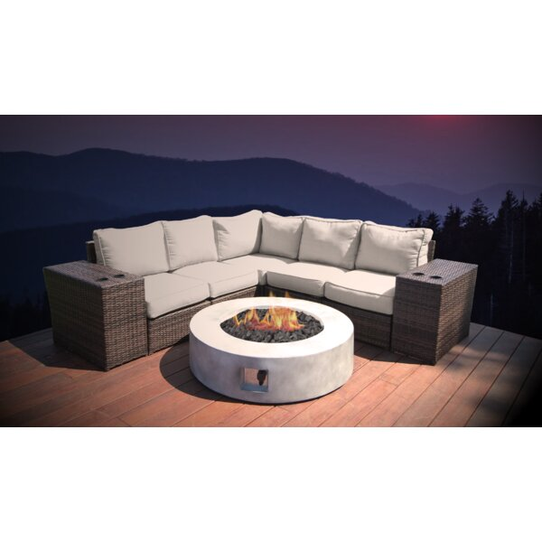Crofoot 8 Piece Sectional Seating Group with Cushions by Orren Ellis