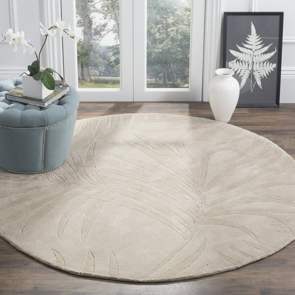 Palmnue Hand-Hooked Gray Area Rug by Bay Isle Home