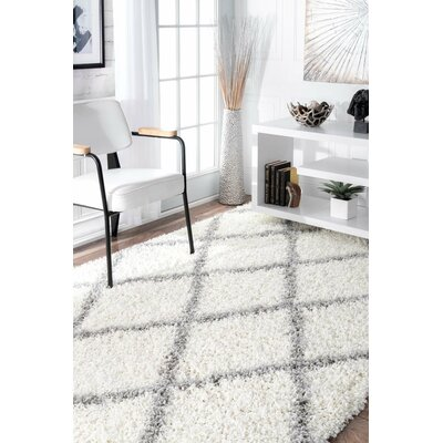 Colona White Grey Area Rug